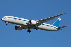 "4X-EDF | Boeing 787-9 Dreamliner | El Al ""Rehovot"" (special 70th Anniversary Retro livery) (cv880m) Tags: 7879 789 newyork jfk kjfk kennedy aviation airliner airline aircraft jetliner airplane 4xedf boeing 787 elal israel dreamliner retro anniversary 70th"