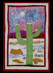 Saguaro Wall Hanging (M.P.N.texan) Tags: wallhanging quilred original handmade wall hanging desert saguaro cactus appligue embroidery mpn