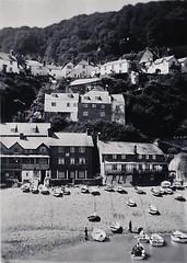 Clovelly Devon 1950 (Bury Gardener) Tags: blackandwhite oldies old snaps scans landscape england uk britain 1950s 1950 monochrome mono bw clovelly devon