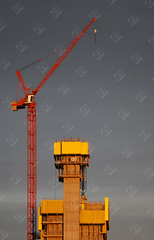 The Crane (the UMF) Tags: vertical bright build building cable color colourful construct construction dark high industrial industry labour lift steel sun tall work