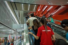 Commuters (zol m) Tags: pasarsenistation commuters escalator station rapidkl mrt lovelykl kualalumpur klickr primelens xpro2 fujinon fujifilm zolsimpression zolmuhd