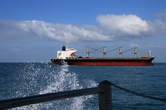 Splash (Paul Threlfall) Tags: ship ferry wa westernaustralia indianocean water sky clouds rottnestisland seaeagleexpress