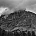 Striations and Layers Across the Mountainside of Michael Peak (Black & White, Yoho National Park)