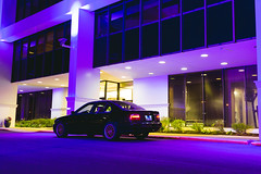 IMG_0385 (Alex Wilson Photography) Tags: bmw e39 530i auto manual swap please 5 series 5er bimmer beamer sweet fast black gold bbs rims wheels tires rainbow purple building light cool long exposure