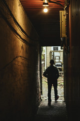 The Alley Man : Part II (gageckelly) Tags: urban city alley brick streetphotography