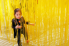 Los Angeles (kirstiecat) Tags: la losangeles california girl child kid artinstallation yellow colour color sculpture