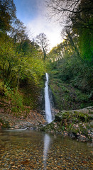 The White Lady (richardsolway) Tags: water waterfall whitewater white nature fall lydford devon dartmoor trees