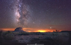 Fajeda Butte Aligned With the Milky Way (MTD Photos) Tags: nightscape night nightsky milkyway space stargazing stars clouds desert newmexico chac chacocanyon landscape