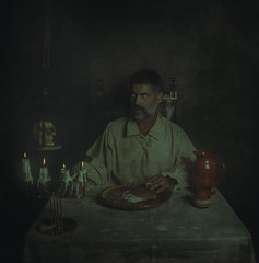 Dinner. (jcalveraphotography) Tags: selfportrait selfie studio serie surrealism beard bearded portrait photo photographer projects people picture pictorialism insect dinner 365 explore 365days eyes exploration scene look