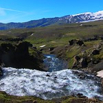 Iceland ~ Landmannalaugar Route ~  Ultramarathon is held on the route each July ~ Water Falls thumbnail
