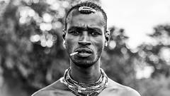 Ethiopia, guerrero Dassanech (pepoexpress - A few million thanks!) Tags: nikon nikkor d750 nikond75024120f4 nikond750 pepoexpressflickr 24120mmafs ethiopia dassanech africa portraits bw