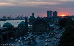 Hamburg, Landungsbrücken (90flyhigh) Tags: hamburg germany elbe hafen harbour speicherstadt photowalk night sunset sonnenuntergang