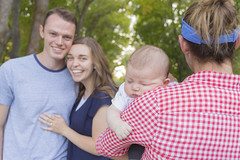Happy Parents When Their Baby is Sleeping (aaronrhawkins) Tags: baby sleep boy mom dad parents rest content restfull happy proud provo canyon utah johnson charlie kellie photoshoot family young couple tired smile aaronhawkins pose