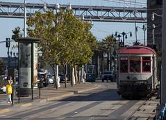 Car 1 at the Ferry Building (imartin92) Tags: sanfrancisco municipal railway california muni streetcar tram trolley railroad transit