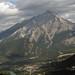 Cascade Mountain looms over Town of Banff