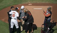 Brooks Robinson, Adam Jones (Keith Allison) Tags: mlb baseball orioleparkatcamdenyards brooksrobinson adamjones baltimoreorioles