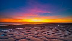sunset (peter manintveld) Tags: benro nd8reverse nederland northsea thenetherlands luminar zonsondergang kleuren colors maasvlakte noordzee wolken clouds sunset strand zand sand laowa12mmf28
