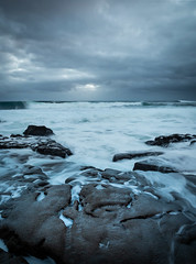Moody Rocks and Motion (Seanie2322) Tags: olympus em1 mk2 ireland coast autumn summer golden hour sunset moody