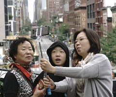 Tourist in New-York (jlp771) Tags: highline shelsea tourist selfie sony ilce6000 cell phone