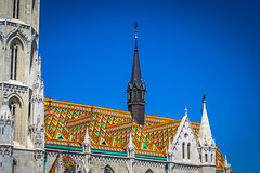 The Matthias Church in Budapest has a spectacular ceramic tile roof.