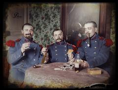"""1898, 3 soldats du 74e Régiment d'Infanterie. (""""La belle époque de Monsieur Eugène"""") (Chicken 62) Tags: infantry french soldat 1898"""