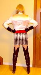 5 (donnacd) Tags: sissy tgirl tgurl dressing crossdress crossdresser cd travesti transgenre xdresser crossdressing feminization tranny tv ts feminized jumpsuit domina blouse satin lingerie touchy feely he she look 易装癖 シー