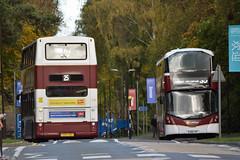 696 & 453 (Callum's Buses and Stuff) Tags: lothianbuses trident lothian bus buses dennis dennins edinburghbus edinburgh chorstorphan madderandwhite madderwhite madder transbus