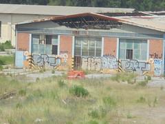 1142 (en-ri) Tags: penso pist fra grigio arancione nero throwup dns rmk tag pisa wall muro graffiti writing