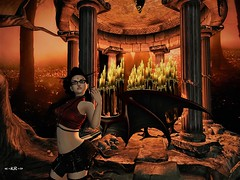 Day 15 - Demon (KoreRae) Tags: halloween halloweencostumechallenge fashion fantasy demon wings red nocturne