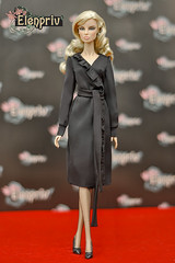 This black dress suits Vanessa just perfect! (elenpriv) Tags: vanessa perrin intoxicating mix fashionroyalty fr2 integrity toys jasonwu doll black dress cestchic collection elenpriv elena peredreeva handmade clothes dollclothes 12inch fashion