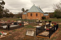 St Columba's Anglican Church, Cassilis NSW (Darren Schiller) Tags: cassilis newsouthwales architecture building church cemetery graves sandstone disused australia community smalltown history heritage anglican