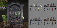 *pm* Spooky Spell Ingredients poster (the_innocence) Tags: papermoon pm seasonssstory spooky spell ingredients potions potionbottles witch witchy cute pastel amber cobalt jewel darkscary