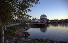 Across From Science (Clayton Perry Photoworks) Tags: vancouver bc canada fall autumn downtown city explorebc explorecanada skyline scienceworld leaves seawall falsecreek