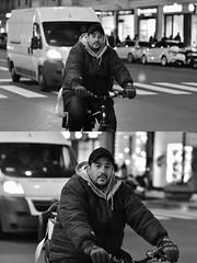 [La Mia Città][Pedala] (Urca) Tags: milano italia 2018 bicicletta pedalare ciclista ritrattostradale portrait dittico bike bcycle nikondigitale scéta biancoenero blackandwhite bn bw 115845