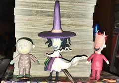 Lock, Shock, and Barrel with Zero 🎃👹 Happy Halloween 👻 (Jeanne1931) Tags: nightmarebeforechristmas costumes zero lockshockbarrel halloween