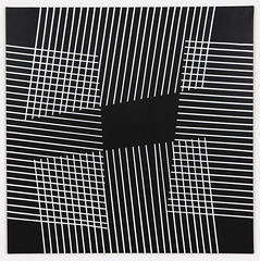 Support 04 (studiobahoe) Tags: acrylic geometric black white lines support square