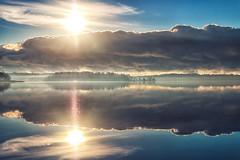 Morning landscape... (BigWhitePelican) Tags: helsinki finland vanhankaupunginlahti morning sunrise reflections canoneos70d adobelightroom6 niktools 2018 october