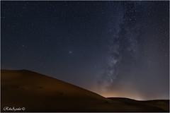 Erg Chebbi and Milkyway (RikiAguilar) Tags: vl vialactea milkyway cielo estrellas stars noche night desert desierto marruecos morocco paisaje nocturna landscape