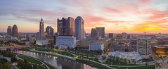 Sunrise Columbus (player_pleasure) Tags: columbus sunrise cityscape downtown mavicpro mavicpro2 drone panorama ohio capital capitalcity