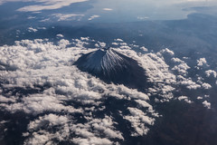 Mt. Fuji (Joshua Mellin) Tags: mtfuji mount fuji sky aerial landscape ana anaairlines airline airlines asia asian cloud clouds japan japanese guide tour travel flight flights trip best instagram instagrammable most sites site joshuamellin journalist writer blogger photographer photography photo pic picture pictures pics 2018 autumn october november oct nov fall colors season seasonal mountain blue skies flying fly nippon volcano active volcanoe eruption eruptions history historical fujisan tallest peak tallestpeak sacred sacredmountain 3sacredmountains art edoperiod hokusai hiroshige