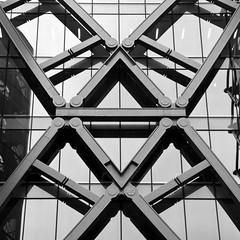 Engineering as Art (Joseph Pearson Images) Tags: building architecture abstract underground london cannonstreetstation square blackandwhite bw mono foggoassociates