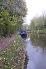 Barges moored near New Mills.  (Peak Forest Canal) October 2018 (dave_attrill) Tags: peakforest canal newmills barges moored towpath peakdistrict derbyshire october 2018