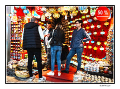 bargaining, ... after 50% off ... (harrypwt) Tags: harrypwt istanbul turkey city borders framed people red market grandbazaar