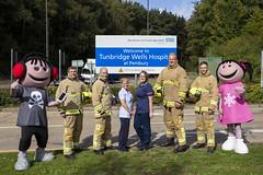 Byrnes visit to Tunbridge Wells Hospital (Kent Fire and Rescue Service) Tags: tunbridge wells woody elsa byrnes hospital partnership jonny bell iain bradshaw adam piper community safety public