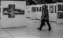 Just walk on by.... (+Pattycake+) Tags: people citycentre blackandwhite bw norwich uk street perspectives forum exhibitionalevel aslevel gcse studentart wymondhamcollege theforumnorwich