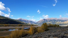 Autumn in the High Country (Patricia Henschen) Tags: topoftherockies scenicbyway twinlakes reservoir lake glacial colorado mountain mountains sawatch range lakecounty sanisabelnationalforest reflection aspen leafpeeping fallcolor fall clouds nationalforest sanisabel usda forestservice recreationarea