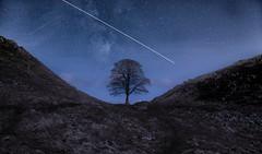 Moonlight & Spaceships (urfnick) Tags: internationalspacestation northumberland historic ruins hadrianswall heritage astro stars