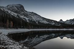 Wedge Pond (Mark Starrett) Tags: kananaskis country pond dusk mirror reflection nikkor