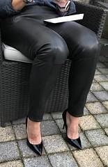 MyLeggyLady (MyLeggyLady) Tags: feet cleavage toe sex hotwife milf sexy secretary teasing thighs pants cfm leather pumps stiletto legs heels