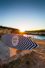 Surfboard (Nicola Pezzoli) Tags: menorca baleares baleari island nature spain sea minorca isola sunset surf surfboard hola ola bar flare sun blue orange ciutadella